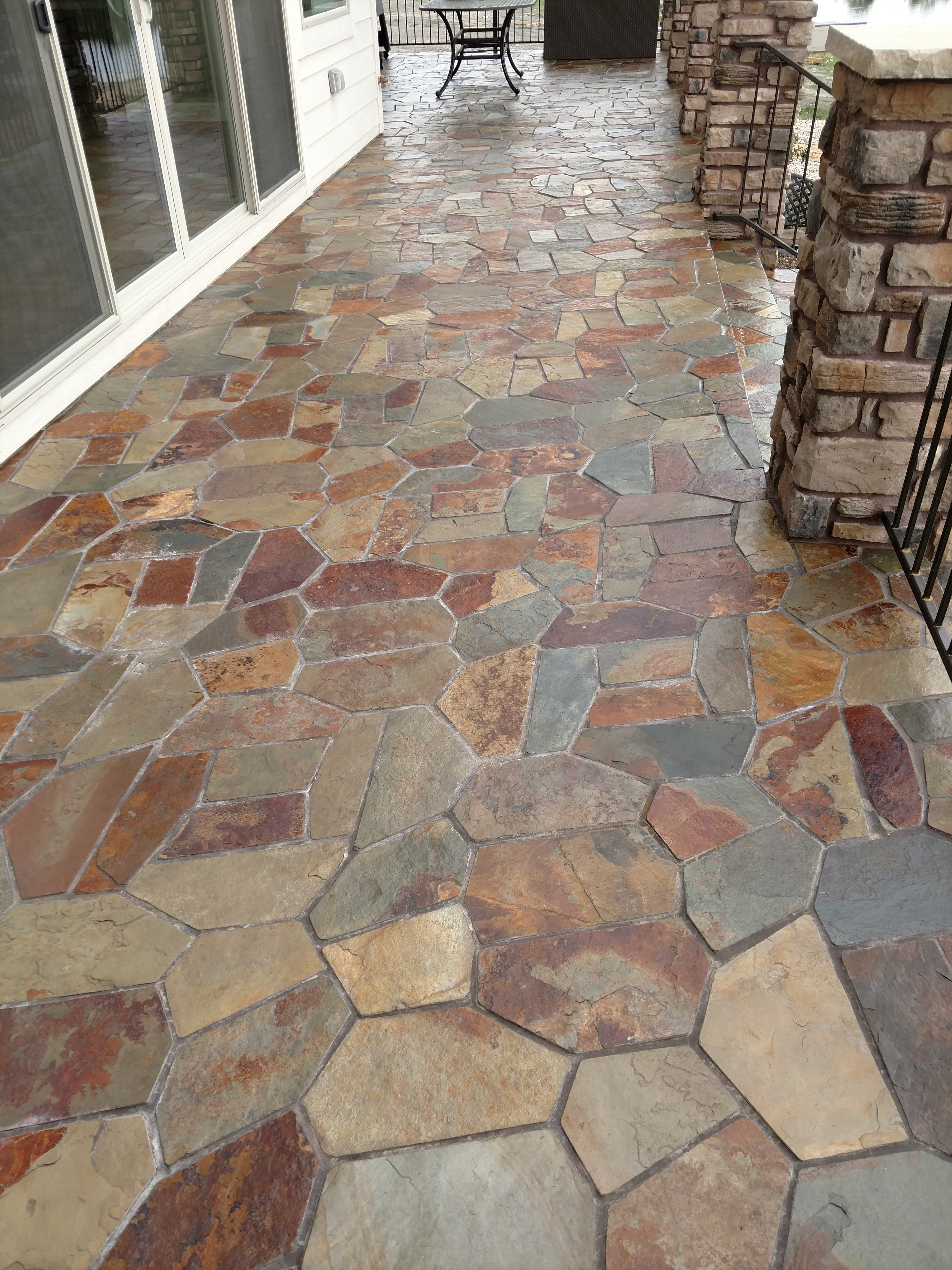 how to clean and seal slate patio