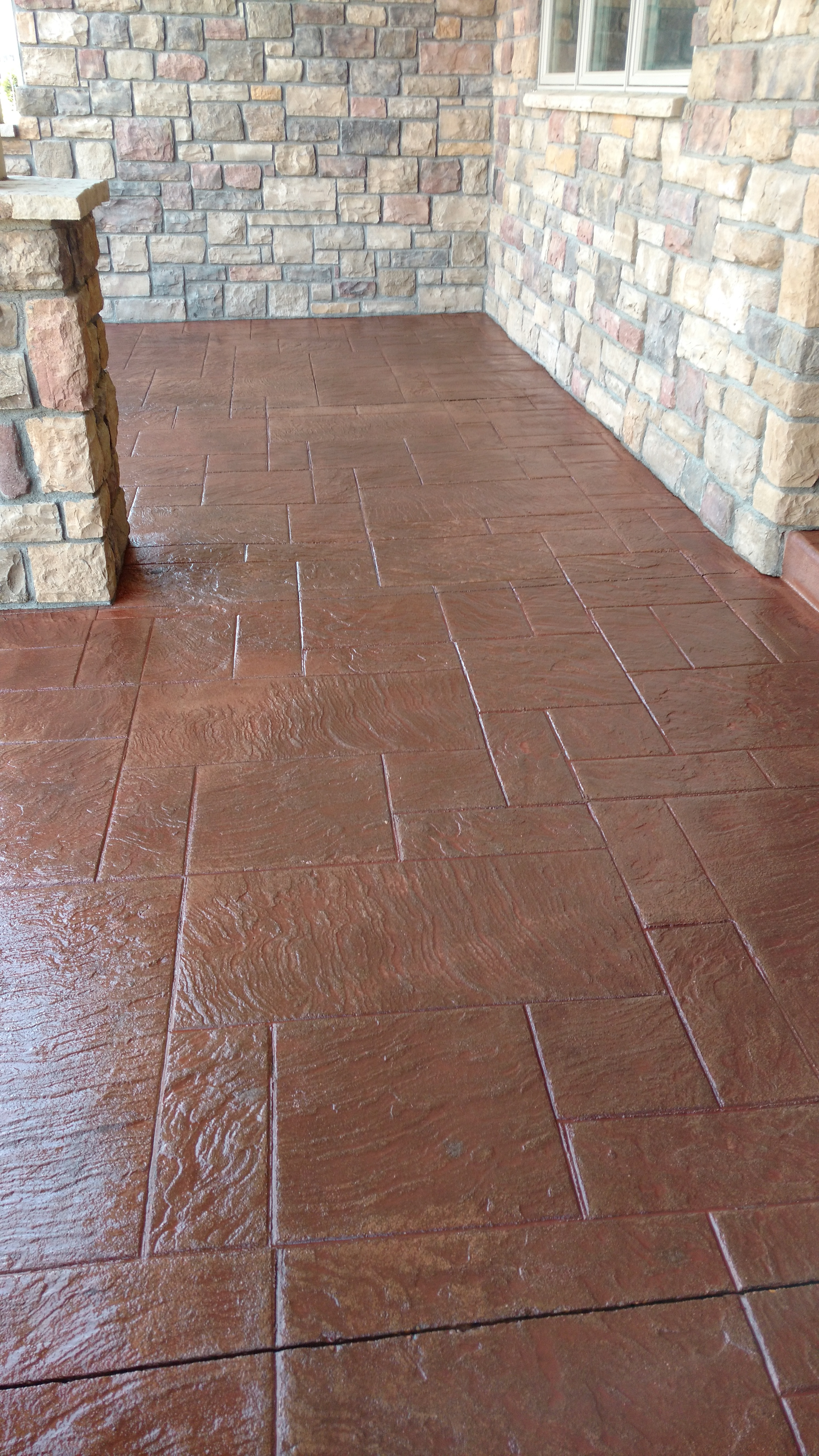 Stamped Patio Sealant Application Ft Collins Windsor CO