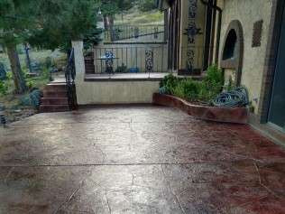 Stamped Patio Sealing
